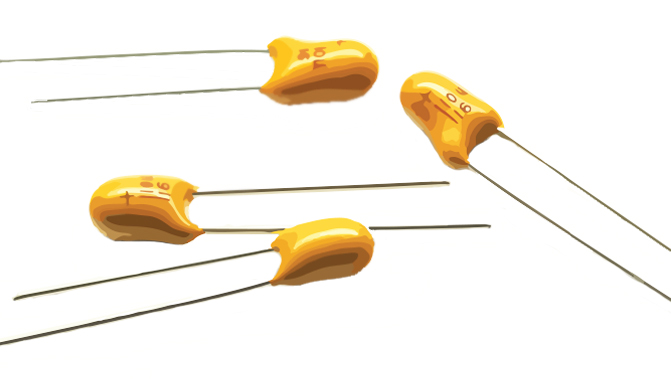 Picture of 1675 - CAPACITOR TANT. RADIAL SIZE A