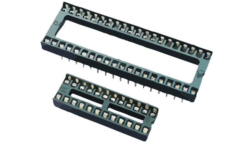 Picture of 4610 - IC SOCKET DOUBLE CONTACT TH